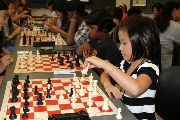 Sixth grader Emily N. qualified for the World Youth Chess Championships. Photo from personal collection