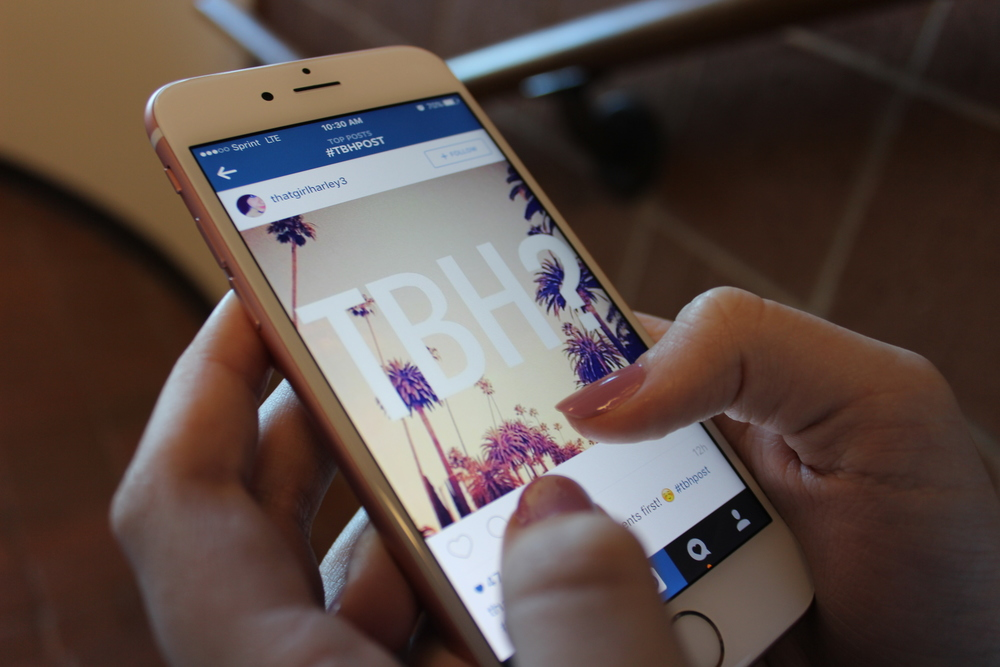 A TBH post on Instagram, an app that is widely used by teens around the world. Photo by Emma Monreal