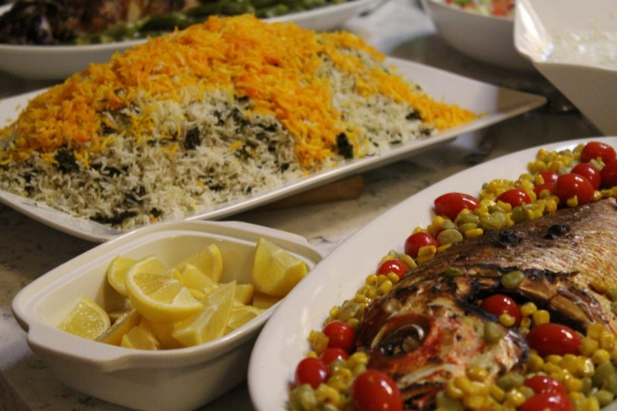 Sabzee+polo+mahee+%28Herbed+rice+with+fish%29