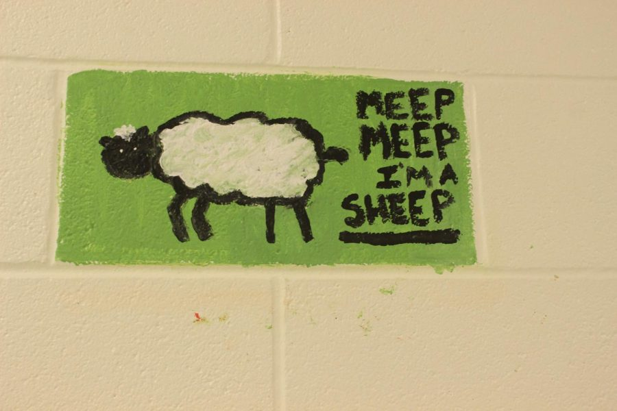 Art Students Paint blocks in The Cafeteria Hallway – Canyon Echoes