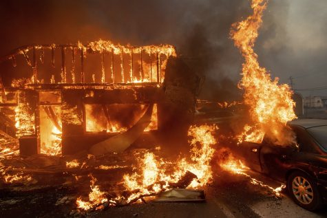 The fire has destroyed more than 6,700 buildings.