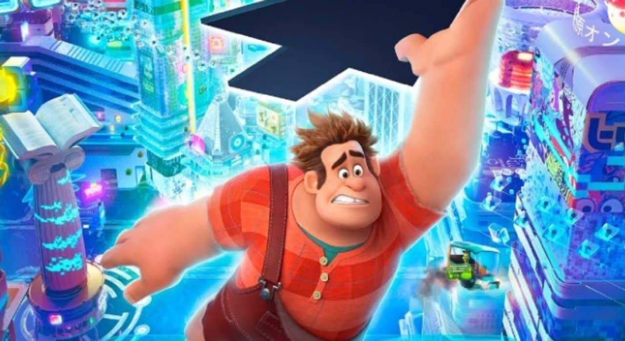 Image is Disney's Movie poster for Ralph Breaks the Internet