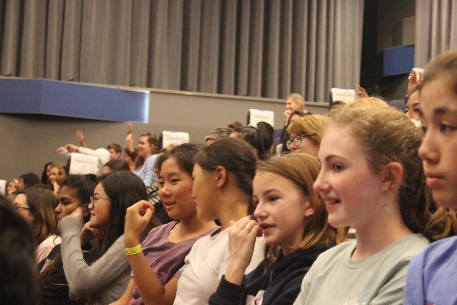 Students+engaged+and+excited+by+Reynolds+speaking