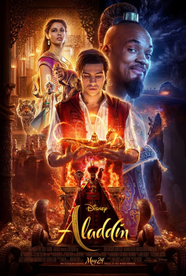 Aladdin+goes+on+a+magical+adventure+after+finding+a+lamp+that+releases+a+genie.