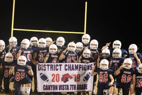 Seventh Grade defeats Grisham 42-6; becomes District Champions