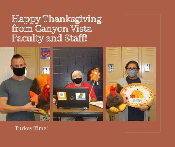 CVMS Staff Gets in the Thanksgiving Spirit with Turkey Time