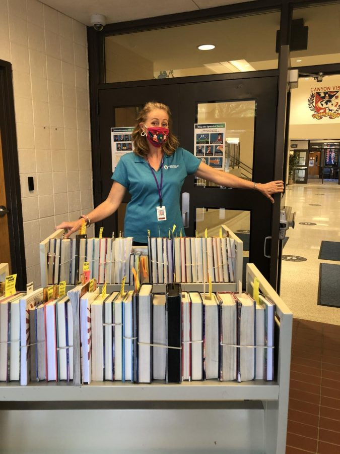 Ms. Stiles and the CVMS Library During COVID-19