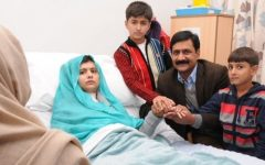 Malala Yousafzai, who advocated for peace when the Taliban attacked her village. She has won a Nobel peace prize and has advocated for womens right in Pakistan.